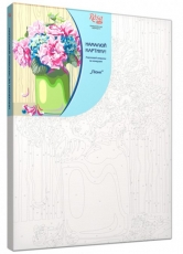 Rosa Paint by Numbers Acrylic Kit - Standart - Peonies