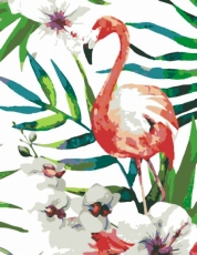 Rosa Paint by Numbers Acrylic Kit - Flamingo