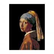 Rosa Paint by Numbers Acrylic Kit - Mastepieces - The Girl with the Pearl Earring - Vermeer