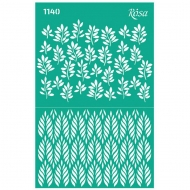 Rosa Peel and Stick Reusable Adhesive Stencil 13 x 20 cm - Background - Leaves