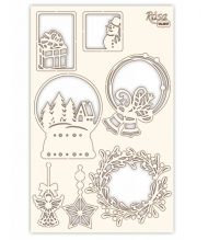 Pulp Board Scrapbooking Embelishments 12.8 x 20 cm Christmas Frames
