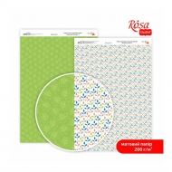 Rosa Scrapbook Paper А4 - Gentle Flowers - Spring Shoots