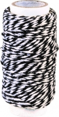 Knorr Prandell Twisted Cotton String (Bakers Twine) 20 m - White and Black