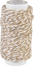 Knorr Prandell Twisted Cotton String (Bakers Twine) 20 m - White and Brown
