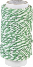 Knorr Prandell Twisted Cotton String (Bakers Twine) 20 m - White and Dark Green