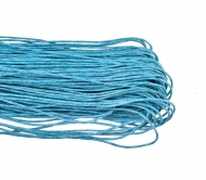 1 mm Waxed Cotton Cord, Length 85 mm - Baby Blue