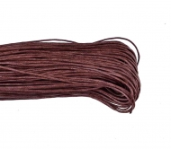 1 mm Chestnut Brown  Waxed Cotton Cord, Length 85 mm