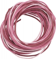 Knorr Prandell Waxed Jewellery Cord 1 mm 3 x 1.7 m  - Pinks