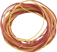 Knorr Prandell Waxed Jewellery Cord 1 mm 3 x 1.7 m  - Yellow, Orange, Red