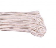 1 mm White Waxed Cotton Cord, Length 85 mm