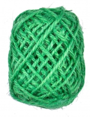 Green Hemp Twine 1.5 mm, 10 m