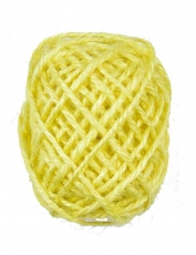 Yellow Hemp Twine 1.5 mm, 10 m