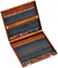 Derwent Procolour Colouring Pencils, Set of 48 in Wooden Gift Box, Professional Quality