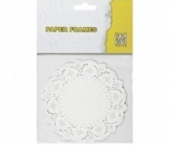Nellie's Choice Doilies Round Paper Frames 115 mm, 12 pcs
