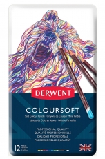 Derwent Coloursoft Colouring Pencils, Set of 12, Professional Quality
