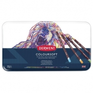 Derwent Coloursoft Colouring Pencils, Set of 72, Professional Quality