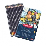 Derwent Studio Colouring Pencils, Set of 12, Professional Quality