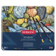 Derwent Studio Colouring Pencils, Set of 24, Professional Quality