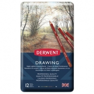 Derwent Coloured Drawing Pencils, Set of 12, Professional Quality
