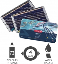 Derwent  Inktense Permanent Watercolour Pencils, Set of 72, Professional Quality