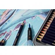 Derwent  Inktense Permanent Watercolour Pencils, Set of 24, Professional Quality