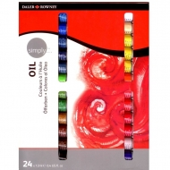 Oil Colour Paint Daler Rowney Simply Set of 24