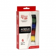 Acrylic Paint Set Rosa Studio 6 x  20  ml