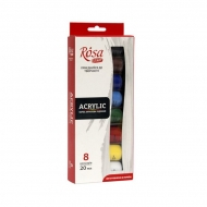 Acrylic Paint Set Rosa Studio 8 x 20 ml