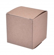 Set of 10 Kraft Paper Favour Boxes 70 x 70 x 70 mm