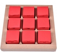 Mini Red Chocolate Boxes, 9 pcs