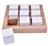 Mini White Chocolate Boxes, 9 pcs