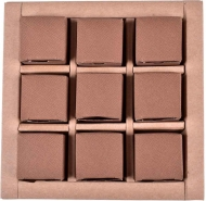 Mini Brown Chocolate Boxes, 9 pcs