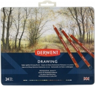 Coloured pencil set derwent drawing 24 colours