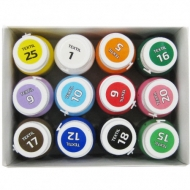 Fabric Paint for Light and Dark Coloured Textiles Rosa Set 12 colours x 20 ml