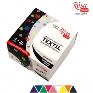 Fabric Paint for Light and Dark Coloured Textiles Rosa Set 9 colours x 20 ml