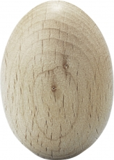 Wooden Egg Height: 40 mm Ø 30 mm