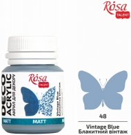 Rosa Matt Deco Acrylic Paint 20 ml - Blue Vintage
