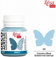 Rosa Matt Deco Acrylic Paint 20 ml - Blue Country