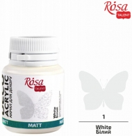 Rosa Matt Deco Acrylic Paint 20 ml - White