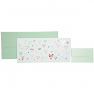 Cash/Vouchers Gift Envelope Stewo - Fania - Hearts