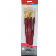 Daler Rowney Bristle Brush Set of 4 Simply Oil