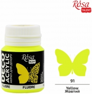 Rosa Neon Deco Acrylic Paint 20 ml - Yellow