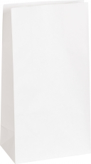 Pack of 25 White Paper Bags Heyda 13 x 7.5 x 24 cm
