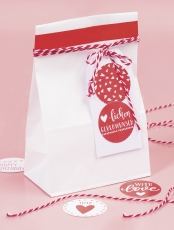 Pack of 25 White Paper Bags Heyda  10 x 5.5 x 17.5 cm