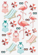Brunnen : Stickers Holiday Flamingo