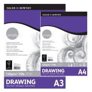 Daler Rowney Simply Drawing Pad : 120 gsm : 50 sheets : А3