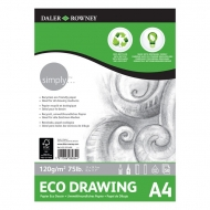 Daler Rowney Simply Eco Drawing Pad : 120 gsm : 50 sheets : А4