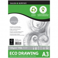 Daler Rowney Simply Eco Drawing Pad : 120 gsm : 50 sheets : А3