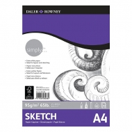 Daler Rowney Simply Sketch Pad : 95 gsm : 72 sheets : А4