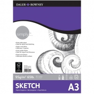 Daler Rowney Simply Sketch Pad : 95 gsm : 72 sheets : А3